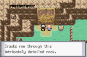 cracks run through this rock in gaia rom