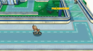 player riding on the bike