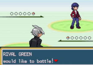 Rival Green would like to battle